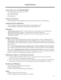 Healthcare Medical Resume, Sample Resume For Medical Technologist PDF  Radiologic Technologist Resume