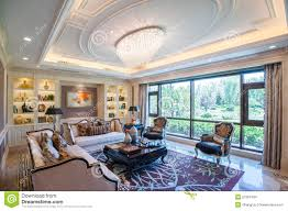 Large Living Room Mansion Living Room With Large Windows Stock Images Image 27281404