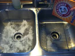 baking soda all over your sink step