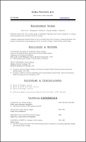 New Graduate Nurse Resume Clinical Experience Experience Resumes