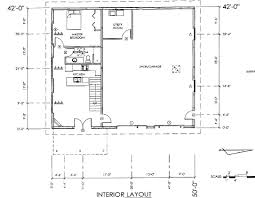 Home Plans Pole Barns With Living Quarters  Pole Barn Floor Barn Plans With Living Quarters Floor Plans