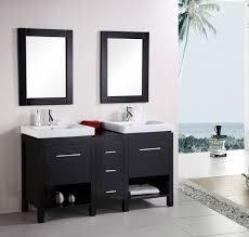 stylish modular wooden bathroom vanity. 60 Inch Transitional Double Vessel Sink Vanity Espresso Finish Set Stylish Modular Wooden Bathroom D