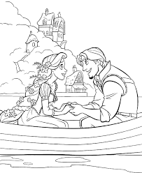 Small Picture Princess Rapunzel Dating With Flynn Rider Coloring Pages