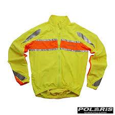 Polaris Rbs High Viz Cycling Jacket Yellow Orange X Large
