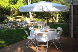 90 inch round tablecloth with umbrella hole white