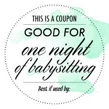 Coupon Templates For Word Free Babysitting Coupon Google Search Appreciation Thinking Of 17