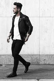 how to wear a leather jacket leather jacket outfits male style