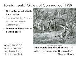 "Image result for 1639 – The ""Fundamental Orders"""