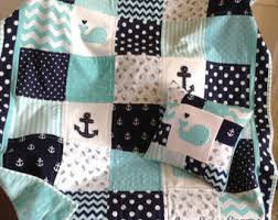 Handmade baby quilt   Etsy & Nautical Coastal quilt/Handmade baby quilt/whale and anchor quilt/baby quilt / Adamdwight.com
