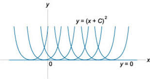 Image result for integral curves of differential equation y '= √y