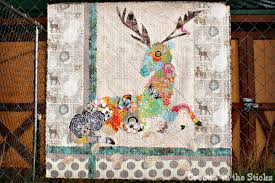 Creatin' in the Sticks: My Dear- Oh Deer Collage Quilt & This quilt started when my friend Vickie over at More Stars in Comanche  caught my eye with her