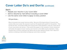 Dos And Don Ts Of Cover Letters Cover Letter Writing Ppt Video Online Download