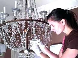 how to clean crystal chandelier s vinegar steam light