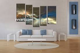 Living Room Canvas Paintings 5 Piece Colorful Abstract Huge Canvas Art
