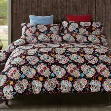 bedroom awesome 3d skull bedding sets plaid duvet covers for king size bed europe prepare full