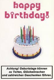 Lustige Postkarte Sprüche Happy Birthday Torte Mit Kerzen