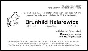 Traueranzeigen Todesanzeigen Nürnberger Nachrichten Trauer