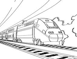 Train Pictures To Color Coloring Pages