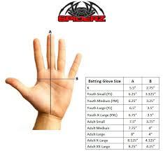 bat size chart size chart spiderz sports
