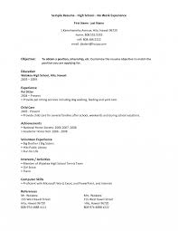 Prepossessing High School Resumes Examples On Resume For Students