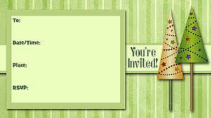 printable christmas invitations christmas trees invitations free printable fill in holiday party