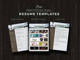 Free Resume Cv Portfolio Cover Letter Design Template By Zee
