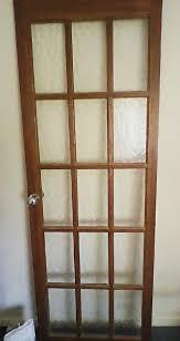internal wooden door with glass panels 197cm x 69cm
