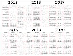 Year To Year Calendar 5 Year Calendar Template Under Fontanacountryinn Com