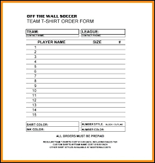 clothing order form template word blank t shirt order form template lovely best forms images on word