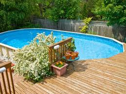 above ground pool with deck. Fine Above Pool Deck In Above Ground With