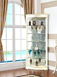 curio cabinet with glass door mahogany doors antique wood small display wit