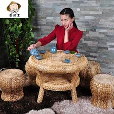 old series workers banana leaves casual roundtable round table combination package past style courtyard five qi