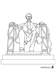 nobby design abraham lincoln coloring pages printable memorial statue hellokids com
