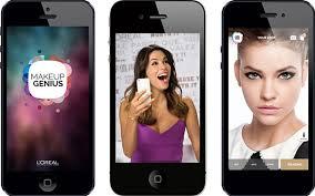 above the makeup genius app from l oréal paris