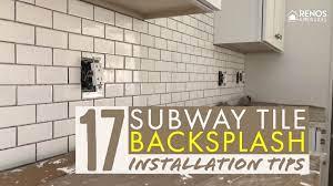 17 subway tile backsplash installation
