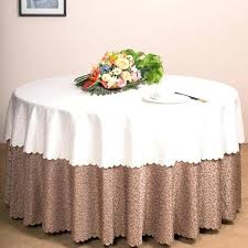 round tablecloth on square table sizing chart for 60 inch