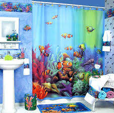 shower curtains for kids with theme and blue rug also sink fish bathroom set