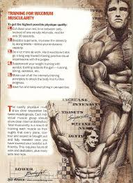 Arnold Gym Workout Chart Arnold Schwarzenegger 013 Training For Maximum