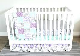 purple crib skirt purple crib skirt baby girl nursery bedding set lavender mint and gray purple crib
