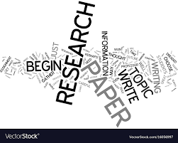 The Dreaded Research Paper Text Background Word