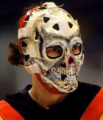 the canucks gary bromley sports the official goalie mask of that s old