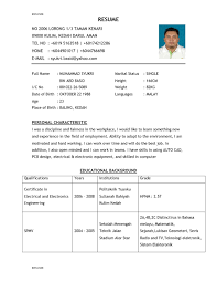 Resume With Photo Example