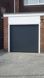 hormann sectional l ribbed garage door in anthracite grey