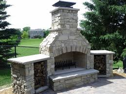wood burning fireplace design landscape traditional with custom outdoor wood fireplace kits