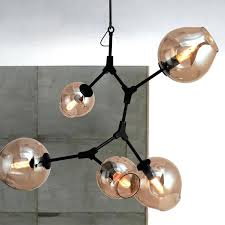 seeded glass light fixtures 6 lights branching bubble chandelier modern with regard to pendant decorating clear