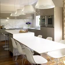 island lighting kitchen contemporary interior. White Kitchen Island For Contemporary Interior Design Using Glass Pendant Lamps And Modern Chairs Lighting R