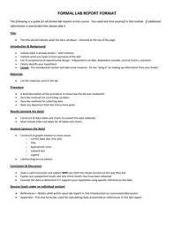 Science Report Format Biology Lab Report Layout Matrix Education