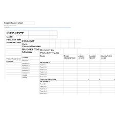 Simple Project Budget Template | budget template free