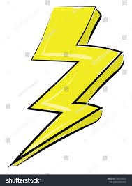 What Is A Light Yellow Discharge Painting Lightning Big Yellow Flash Light Stock Vector