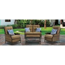 Hanover Hudson Square 4 Piece Deep Seating Patio Lounge Set with